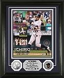 イチロー フォトプラーク ニューヨーク・ヤンキース・デビュー記念(MLBフォト) (Ichiro Yankees Debut Silver Coin Photomint)★予約