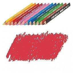 JOLLY X-BIG Delta Colored Pencil, Carmine Red, Three 12-Packs = 36 pcs. 3399-0007