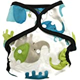 BB2 Baby One Size Printed Minky Minkee Snaps Cloth Diaper Cover for Prefolds