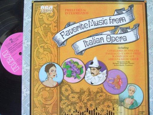 FAVORITE MUSIC FROM ITALIAN OPERAS- PRELUDES & INTERMEZZOS- BASILE- BOOLOGNA ORCH (Italian Opera Vinyl compare prices)