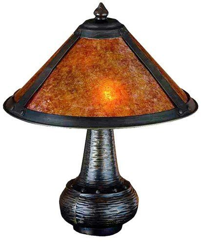 Meyda Tiffany Dirk Van Erp Wide Base Accent Lamp, Mt-22619