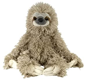 "Wild Republic Cuddlekin Three Toed Sloth 12"" Plush by Wild Republic"