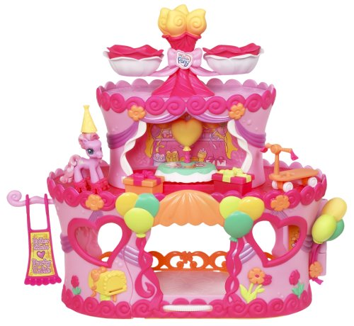 My Little Pony Ponyville Roller Skate Party Cake with Pinkie Pie (My Lil Pony Table compare prices)