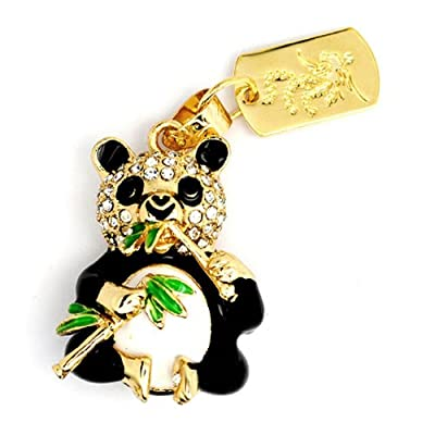 8GB Fashion Crystals Jewelry USB 2.0 Flash Memory Pen Drive Panda Gold Pendant for Necklace from pengyuan