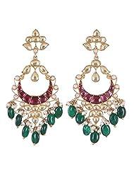 Amethyst By Rahul Popli Multi-Colour Silver Stud Earrings