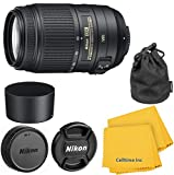 Nikon 55-300mm f 4.5-5.6G ED VR AF-S DX Nikkor Zoom Lens for Nikon Digital SLR- Import Model with CT Microfiber Cleaning Cloth