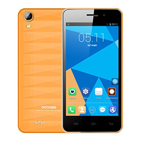 "DOOGEE Valencia DG800 4.5"" IPS MTK6582 4-Core Android 4.4.2 3G Phone 1GB RAM 8GB ROM 13MP CAM (Orang.."