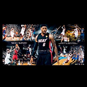 LeBron James Autographed Miami Heat Divide & Conquer - Road to the 2012 Finals... by Upper Deck