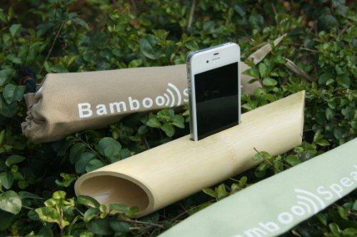 Handmade Bamboo Speaker For Iphone5,4,4S Ipod Touch 4 Gen