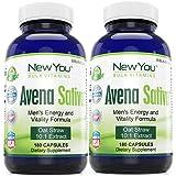 Avena Sativa Youthful Energy, Vigor And Stamina Support New You Bulk Vitamins 10:1 Avena Sativa Extract 900mg 360 Capsules 2 Bottles