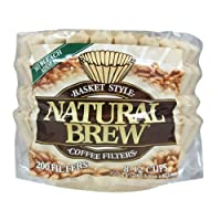 Natural Brew Basket Coffee Filters, 8-12 Cup, Natural Brown Paper, 200-Count Bags (Pack of 12)