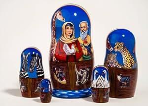 """Noah's Ark Nesting Doll 5pc./6"""""""