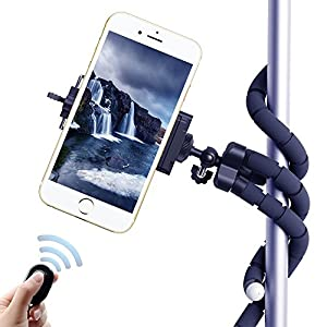 LSoug Selfie Tripods?3 in 1 Flexible Octopus Cell Phone Camera Selfie Stick Stand Tripod Mount Adapter Portable Bluetooth Remote Shutter for iphone Samsung other Smartphones