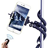 LSoug Selfie Tripods,3 in 1 Flexible Octopus Cell Phone Camera Selfie Stick Stand Tripod Mount Adapter Portable Bluetooth Remote Shutter for iphone Samsung other Smartphones