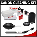 Canon Optical Lens and Digital SLR Camera Cleaning Kit with Brush, Microfiber Cloth, Fluid & Tissue + Blower + Lenspen Sensor Filter Cleaner for EOS 1D X, 1Ds Mark II, III, IV, 60D, 5D, 6D, 7D, Rebel T2i, T3, T3i & T4i