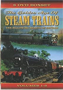 The Golden Age Of Steam Trains 8 Dvd Set Amazon Co Uk