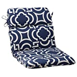 Pillow Perfect Indoor/Outdoor Carmody Rounded Chair Cushion, Navy
