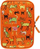 NeoSkin Kindle Fire Zip Sleeve, Cat's Meow (Fits Kindle Fire, Kindle Keyboard, Neoprene Kindle Cover, Kindle Case)