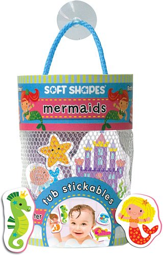 Innovative Kids Soft Shapes Illustrated Tub Stickables Mermaids Playset - 1
