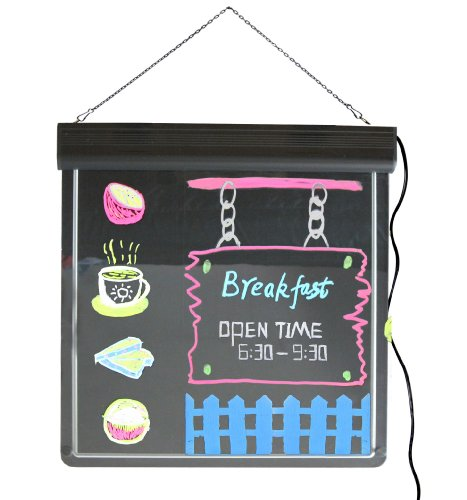 LED Neon Board, LED Fluorescent Writing Board Restaurant Menu Board LED Sign