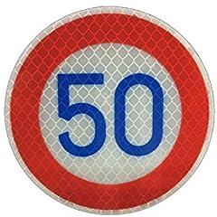 【大蔵製作所】道路標識マグネトラフィックン ステッカー「規制標識シリーズ」・制限速度 50㎞