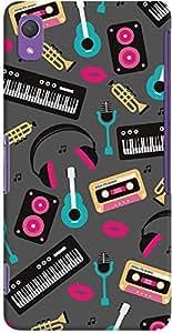 DailyObjects Retro Music Case For Sony Xperia Z2