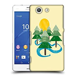 Snoogg Christmas Tree Designer Protective Back Case Cover For SONY Z3 COMPACT