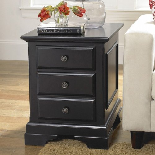 Buy Low Price Riverside Cobble Hill Two Drawer Black End Table Riverside Furniture 35009