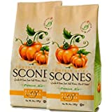 Sticky Fingers Scone Mix (Pack of 2) 15 Ounce Bags - All Natural Scone Baking Mix (Pumpkin Spice)