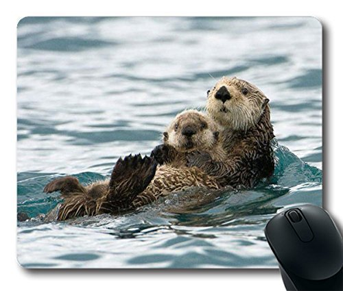 Sea Otters Mousepad