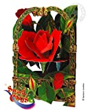 Santoro Interactive 3-D Swing Card, Rose Greeting Card