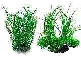 Govine® 2Pセット プラスチック植物 人工水草 アクアリウム 水槽 水族館装飾