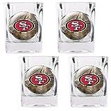 NFL San Francisco 49ers Open Field Four Piece Square Shot Glass Set