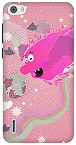 The Racoon Lean Sun Monsters hard plastic printed back case/cover for Huawei Honor 6