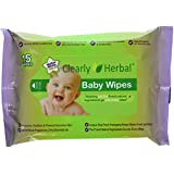 Clearly Herbal 15 Count Herbal Baby Wipes ( 12 Packs Of 15 Count = 180 Wipes), Handy To Go Packs Of Wipes