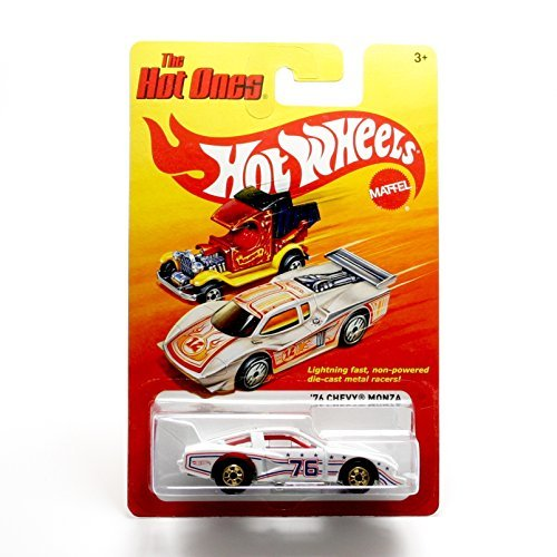 '76 CHEVY MONZA (WHITE) * The Hot Ones * 2011 Release of the 80's Classic Series - 1:64 Scale Throw Back HOT WHEELS Die-Cast Vehicle
