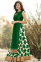Shree Ganesh Women's Designer Multi-Coloured Silk Semi-Stitched Lahenga Choli [L73 (5)_Multi-Coloured]