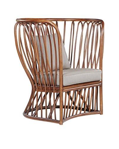 Jeffan Trellis Club Chair, Brown