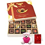 Exquisite Combination Of Chocolates With Teddy And Love Card - Chocholik Belgium Chocolates