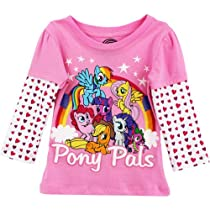 "My Little Pony ""Pony Pals"" Pink Toddler Glittered T-Shirt (3T)"