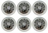 ADX 15LEDPIR-WH LED 140-Degree 12 Meter Security PIR Infrared Motion Sensor Detector Wall Light Outdoor, White, 6-Pack