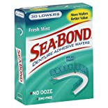 Sea-Bond Denture Adhesive Wafers, Lowers, Fresh Mint, 30 ct.