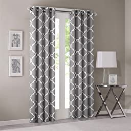 Madison Park Saratoga Window Curtain Pair Grey 95 Panel