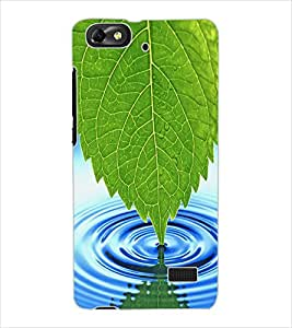 ColourCraft Leaf and Water Design Back Case Cover for HUAWEI HONOR 4C