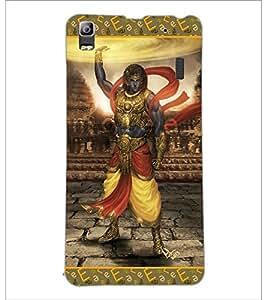 PrintDhaba Lord Krishana D-5698 Back Case Cover for LENOVO A7000 (Multi-Coloured)