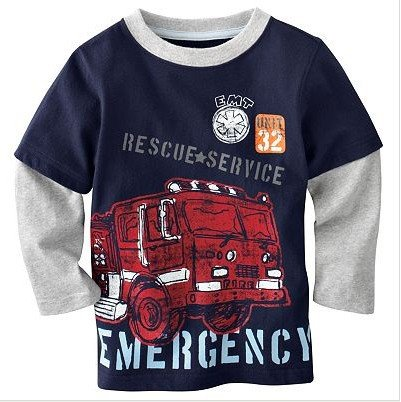 Baby Shirt Jungen &#39;Feuerwehr&#39;