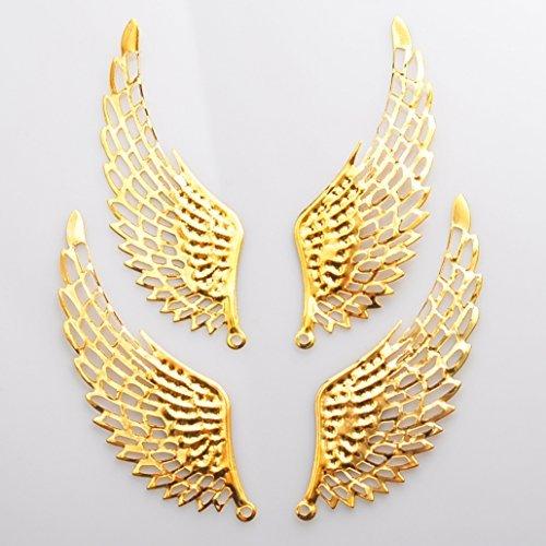 Angel Wings - ogni due d'oro a sinistra e destra parti di filigrana parti buco della serratura trafitto orecchini ala angelo di commercio accessori parti di polvere