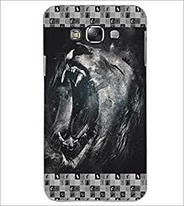 PrintDhaba Roaring Lion D-4634 Back Case Cover for SAMSUNG GALAXY A8 (Multi-Coloured)