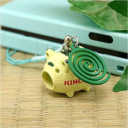 KINCHOの夏☆日本の夏 金鳥の渦巻き根付(蚊取り豚)KNCHNK0402