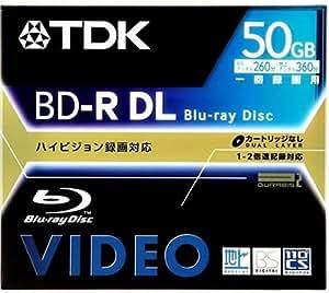 TDK 録画用ブルーレイディスク 50GB(片面2層) 追記型 BDV-R50S